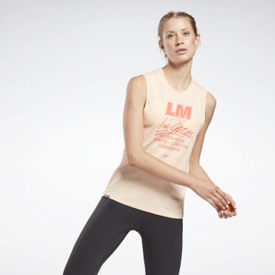Women Studio Orange Les Mills® Muscle Tank Top