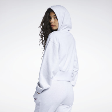 Kvinder Classics White Classics Foundation French Terry Hoodie