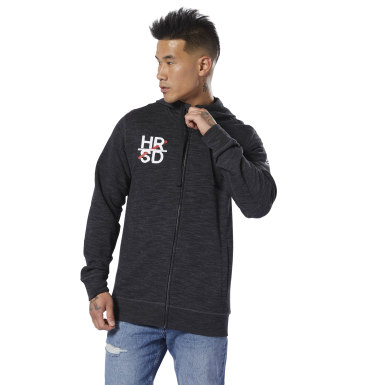 черный Худи UFC Fan Gear Full-Zip