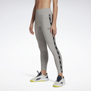Legging Reebok Vector Tape Gris Femmes Fitness & Training