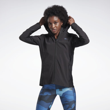 Women Hiking Black Run Track Jacket