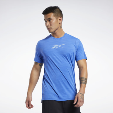 Heren Fitness & Training Blauw ACTIVCHILL Move T-shirt