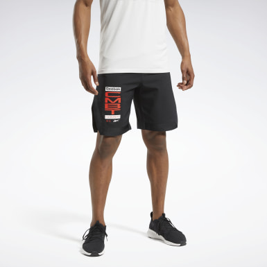 Men Fitness & Training Black Combat MMA Shorts
