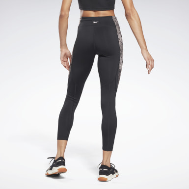 Women Fitness & Training Black Modern Safari Panel Leggings