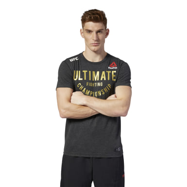 Camiseta UFC Fight Night Walkout Negro Hombre Fitness & Training