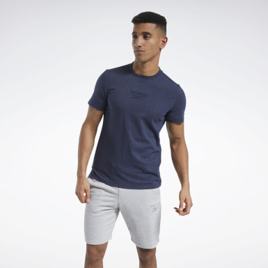 Men Fitness & Training Blue Training Essentials Mélange Tee