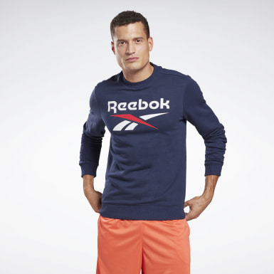 Men Fitness & Training Blue Reebok Identity Big Logo Crew