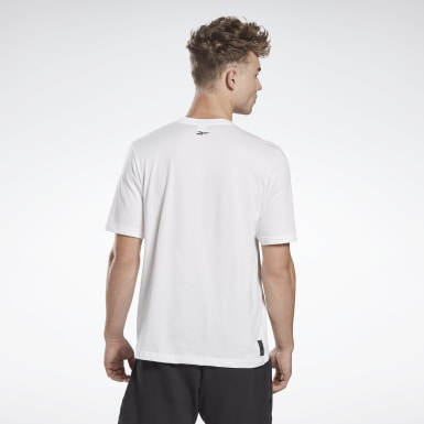 Men Studio White LES MILLS® Linear T-Shirt