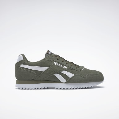 Men Classics Green Reebok Royal Glide Ripple