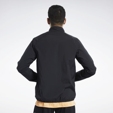 Men Hiking Black Track Top