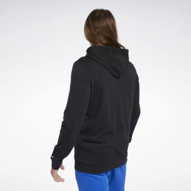 Men Fitness & Training Black Training Essentials Linear Logo Hoodie