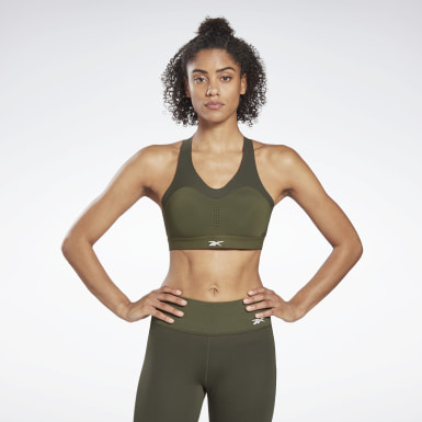 Women Studio Green Reebok PureMove+ Bra