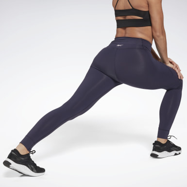 Women Training Purple Reebok Lux High-Rise 2 Leggings