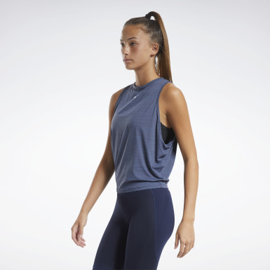 Women Dance Blue ACTIVCHILL Muscle Tank Top