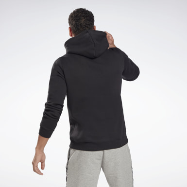 Men Fitness & Training Black Reebok Identity Fleece Hoodie