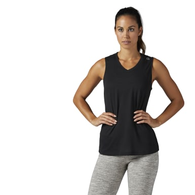 Women Training Black Supremium Tank Top