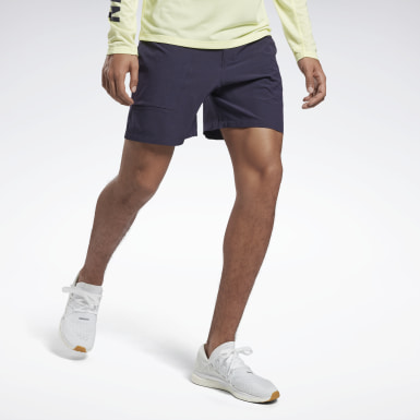 Men Running Purple Night Run Shorts