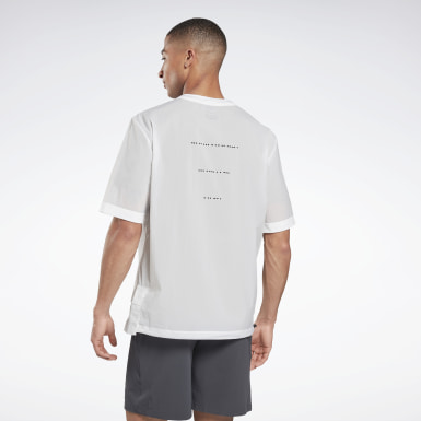 T-shirt en toile Night Run White Hommes Course
