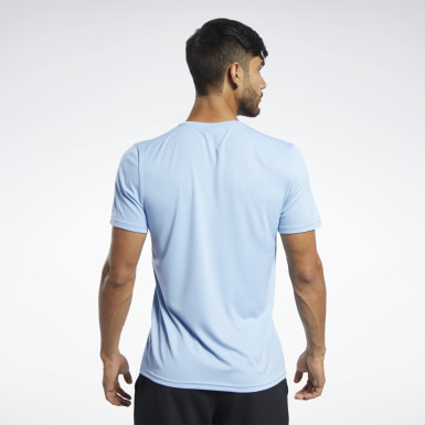 Men Studio Blue Workout Ready Graphic T-Shirt