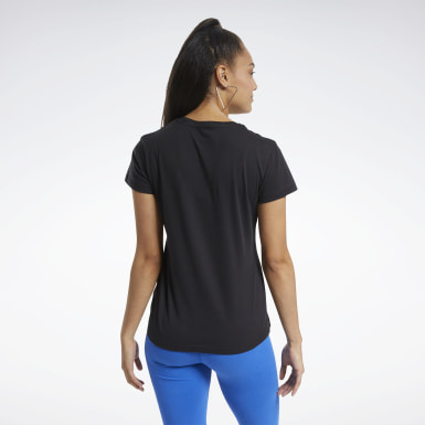 Women Fitness & Training Black Training Essentials Graphic Tee