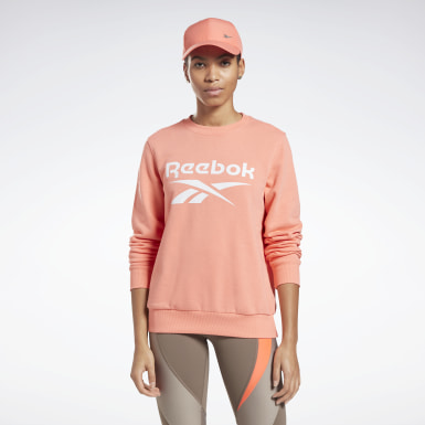 Sweat à col rond Reebok Identity Logo French Terry Femmes Entraînement