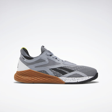 Boys Cross Training Grey Reebok Nano X Shoes