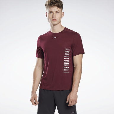 Men Studio Burgundy LES MILLS® BODYCOMBAT® Supremium T-Shirt