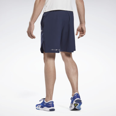 Heren Yoga Blauw LES MILLS® 9-Inch Epic Short