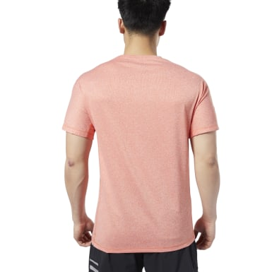Remera One Series Running Reflective Move Naranja Hombre Running