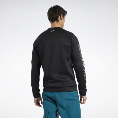 Men Fitness & Training Black Meet You There Crew Sweatshirt