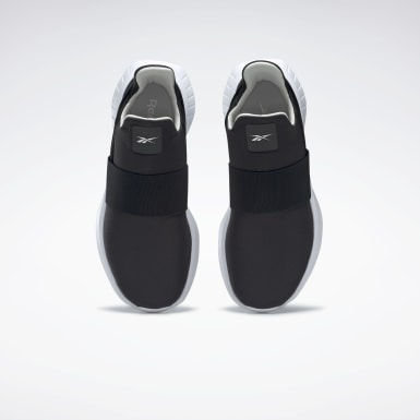 Women Running Black Reebok Slip 2 Shoes