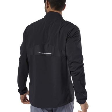 Campera Running Essentials Woven Wind Negro Hombre Running
