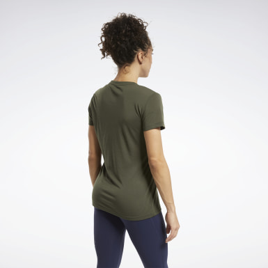 Women Fitness & Training Green Reebok CrossFit® Read Graphic Tee