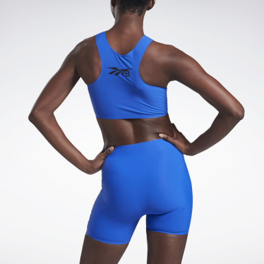 Crop Top VB Azul Mujer Fitness & Training
