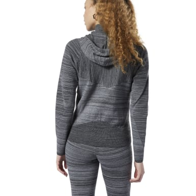 Women Fitness & Training Grey Knit Control Hoodie