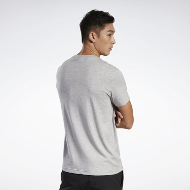 Men Fitness & Training Grey Graphic Tee