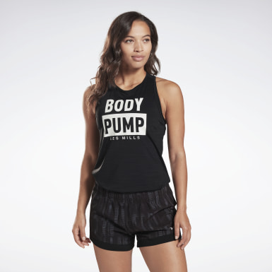 Women Studio Black LES MILLS® BODYPUMP® ACTIVCHILL Tank Top