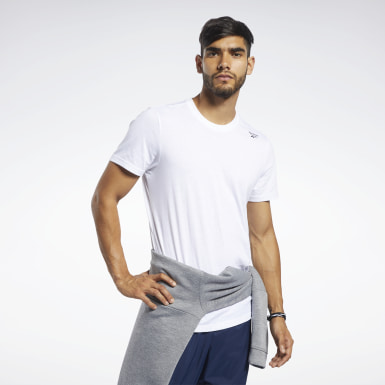 T-shirt Training Essentials Classic Bianco Uomo Yoga