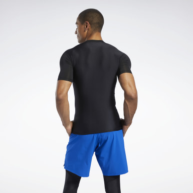 Men Fitness & Training Black Compression Tee