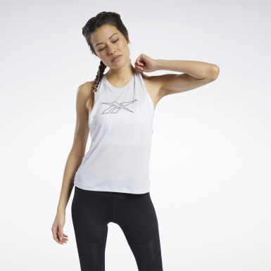Camiseta sin mangas Workout Ready ACTIVCHILL Blanco Mujer Ciclismo