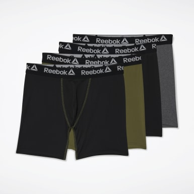 Men Training Black Performance Boxer Briefs 4 Pairs