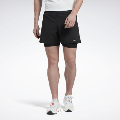 Männer Running One Series Running Epic Two-in-One Shorts Schwarz