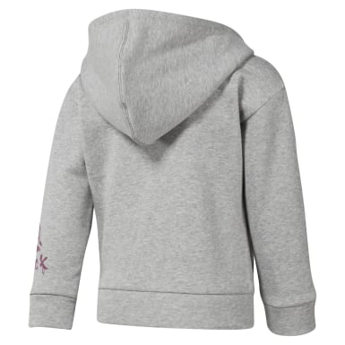 Girls Training Grey Girls Elements Fullzip Fleece Hoody