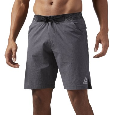 Men Fitness & Training Grey Reebok Epic Knitted Waistband Shorts