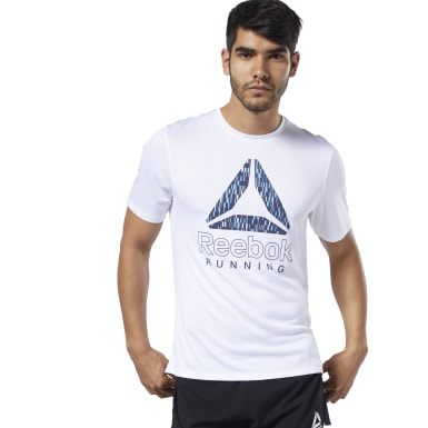 Remera Reebok Graphic Blanco Hombre Running