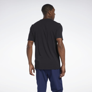 Mænd Studio Black Les Mills® Cotton T-Shirt