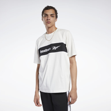 Men Classics White Classics Linear Tee