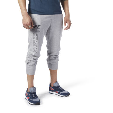 Men UFC Grey UFC Fan Gear Joggers