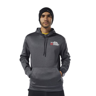 Männer Fitness & Training Retro Winter Hoodie Schwarz