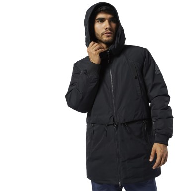 черный Парка Outerwear Down